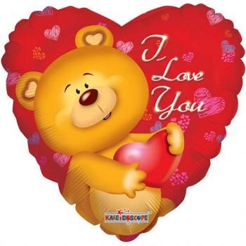 Palloncino Mylar Jumbo 91 cm. Cute Bear I Love You