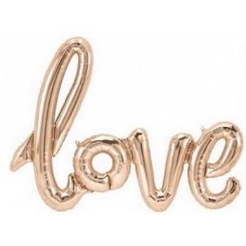 Palloncino Mylar Super Shape 108 cm. Love Rosa Antico - NO ELIO