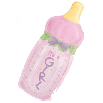 Palloncino Mylar Super Shape 78 cm. Girl - It's A Girl Baby Bottle