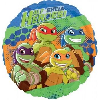 Palloncino Mylar 45 cm. Ninja Turtles Half Shell Heroes
