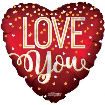 Palloncino Mylar Jumbo 91 cm. Love You Red Matte
