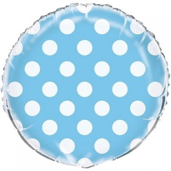 Palloncino Mylar 45 cm. R. Pois Blue Dots