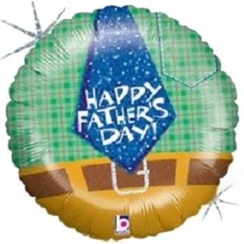 Palloncino Mylar 45 cm. Plaid Dad Holographic