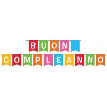 Festone Buon Compleanno, Cartoncino - 15 x 20 - 5 Mt.
