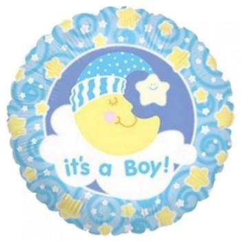 Palloncino Mylar 45 cm. Boy - Slumber Moon Boy