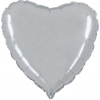 Palloncino Mylar 45 cm. Cuore Argento