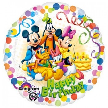 Palloncino Mylar 45 cm. Mickey & Friends Party HBD