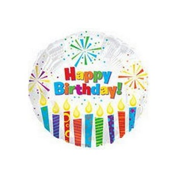 Palloncino Mylar Mini Shape 22 cm. Happy Birthday Day Sparkling Candles