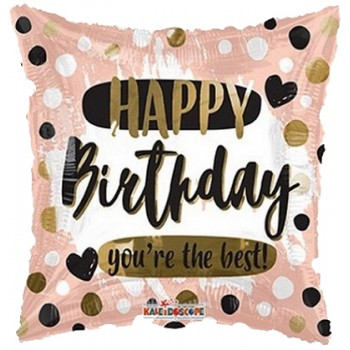 Palloncino Mylar 45 cm. Q - Birthday You're the Best