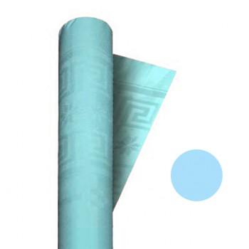 Coordinato Azzurro - Tovaglia Damascata in Carta - 20 x 7 mt.