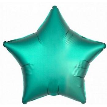 Palloncino Mylar 45 cm. Stella Satinata Verde Tiffany