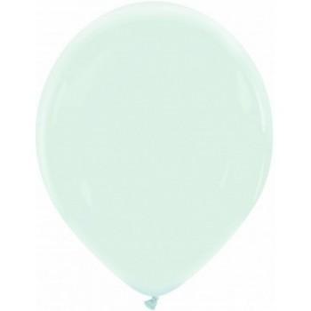 Palloncino in Lattice Rotondo 30 cm. Blu Ghiaccio