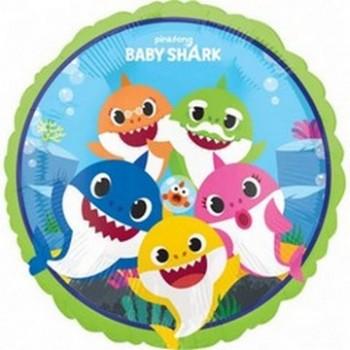 Palloncino Mylar 45 cm. Baby Shark