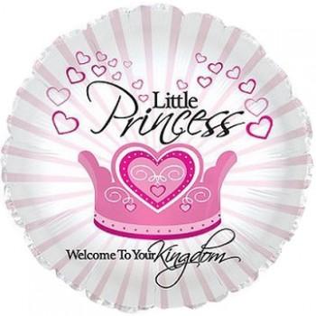 Palloncino Mylar 45 cm. Girl - Welcome Little Princess