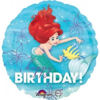 Palloncino Mylar 45 cm. Ariel Dream Big Happy Birthday