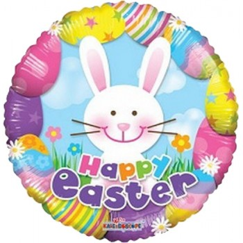 Palloncino Mylar 45 cm. Easter Colorful With Bunny