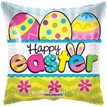 Palloncino Mylar 45 cm. Easter Eggs & Flowers