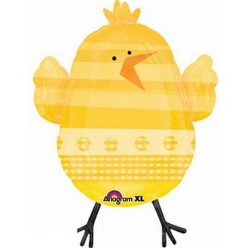 Palloncino Mylar Super Shape 83 cm. Easter Yellow Chick