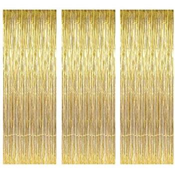 Tende Frange Lamina Metallica, colore Oro, misura 1 mt x 2 mt.