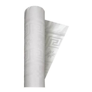 Coordinato Bianco - Tovaglia Damascata in Carta - 20 x 7 mt.