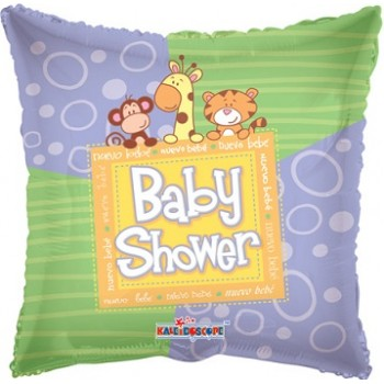 Palloncino Mylar 45 cm. Baby Shower Animals
