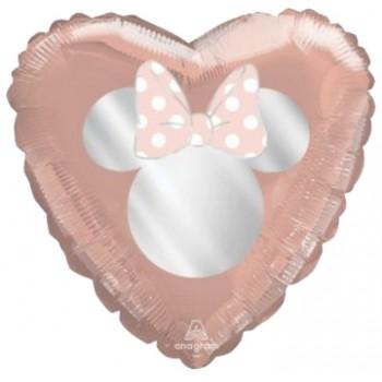 Palloncino Mylar 45 cm. Minnie Rosa Antico Chic