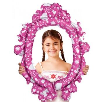 Palloncino Mylar 63 cm. Disney Princesses Frame Se gonfiato ad elio NON vola