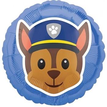 Palloncino Mylar 45 cm. Paw Patrol Chase Emoji