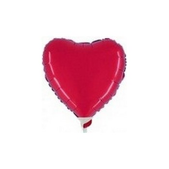 Palloncino Mylar Micro 10 cm. Cuore Rosso