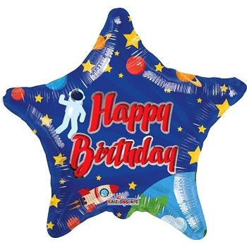 Palloncino Mylar 45 cm. Happy Birtday Space