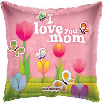 Palloncino Mylar Jumbo 91 cm. I Love You Mom Tulips