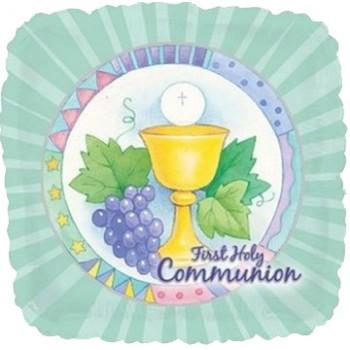 Palloncino Mylar 45 cm. First Holy Communion