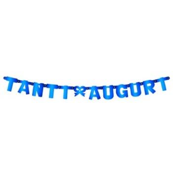 Festone Tanti Auguri Blu, Extra Large Torta 2,15 cm.