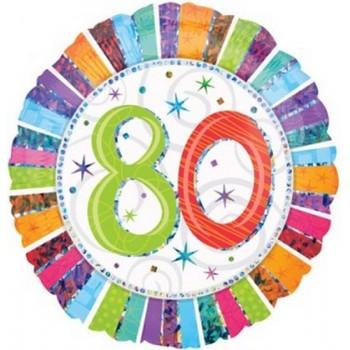 Palloncino Mylar 45 cm. 80° Radiant Birthday