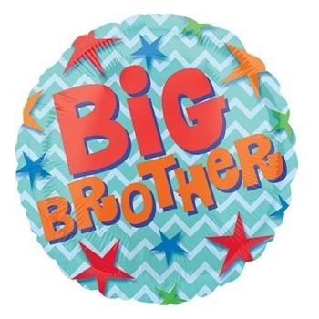 Palloncino Mylar 45 cm. Brother - Big Brother Star