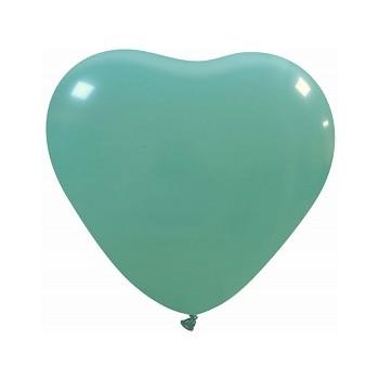 Palloncino in Lattice Cuore 25 cm. Verde Tiffany