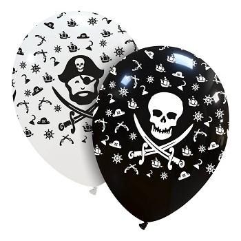 Palloncino in Lattice Rotondo 30 cm. Stampa Pirati Assortiti