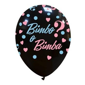 Palloncino in Lattice Rotondo 30 cm. Stampa Bimbo o Bimba?