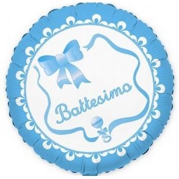 Palloncino Mylar 45 cm. Bimbo - Il Mio Battesimo Azzurro