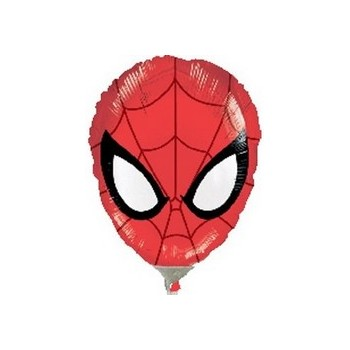 Palloncino Mylar Mini Shape Spider-Man Head - 27 cm.