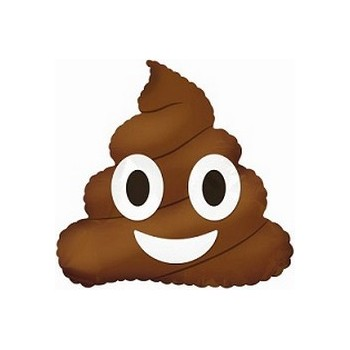 Palloncino Mylar Mini Shape 35 cm. Poop Emoji