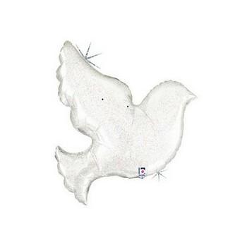 Palloncino Mylar Mini Shape 35 cm. Pearl White Dove