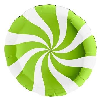 Palloncino Mylar 45 cm. R. Caramella Verde