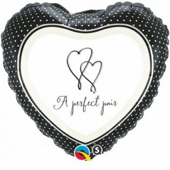 Palloncino Mylar 45 cm. A Perfect Pair Heart