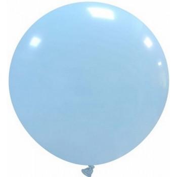 Palloncino in Lattice Rotondo 80 cm. Azzurro Macaron - Round