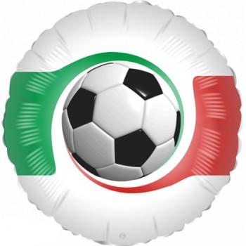 Palloncino Mylar 45 cm. di Calcio con Bandiera italiana