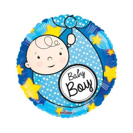 Palloncino Mylar 45 cm. Boy - Baby Boy Born