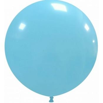 Palloncino in Lattice Rotondo 80 cm. Azzurro - Round