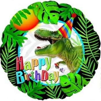 Palloncino Mylar 45 cm. Happy Birthday Party Dinosaur