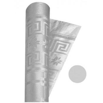 Coordinato Argento - Tovaglia Damascata in Carta - 20 x 7 mt.